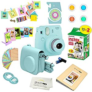 Fujifilm Instax Mini 9 Camera + 15 PC Accessory Kit