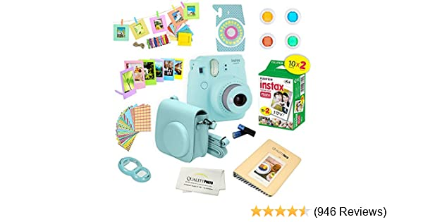 Fujifilm Blue Accessory Kit with Case Frame for Instax Mini 9 Camera Album
