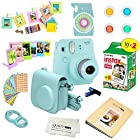 Fujifilm Instax Mini 9 Camera ICE BLUE + Accessory kit for Fujifilm Instax Mini 9 Camera Includes Instant camera + Fuji Instax Film 20 PK + Instax Case + instax Album + Sorted lens & Frames + MORE