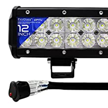 "OPT7 C2 Series 14"" Off-Road CREE LED Light Bar and Harness (Flood/Spot Auxiliary Lamp Combo 6000 lumen)"