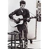 Bob Dylan Poster, Playing Guitar & Harmonica