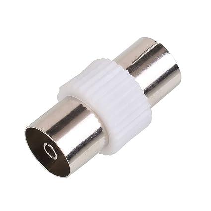 Tiptiper TV A Conectores RF Adaptador de cable coaxial F-Tipo Hembra Macho PAL RF