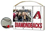 Arizona Diamondbacks Clip It Weathered Logo Photo Frame - Licensed MLB Baseball Merchandise