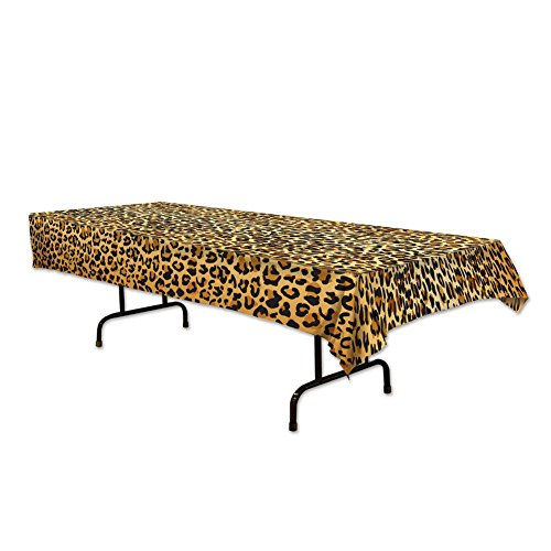 Beistle 57850 Leopard Print Tablecover, 54 by - Party Print Animal