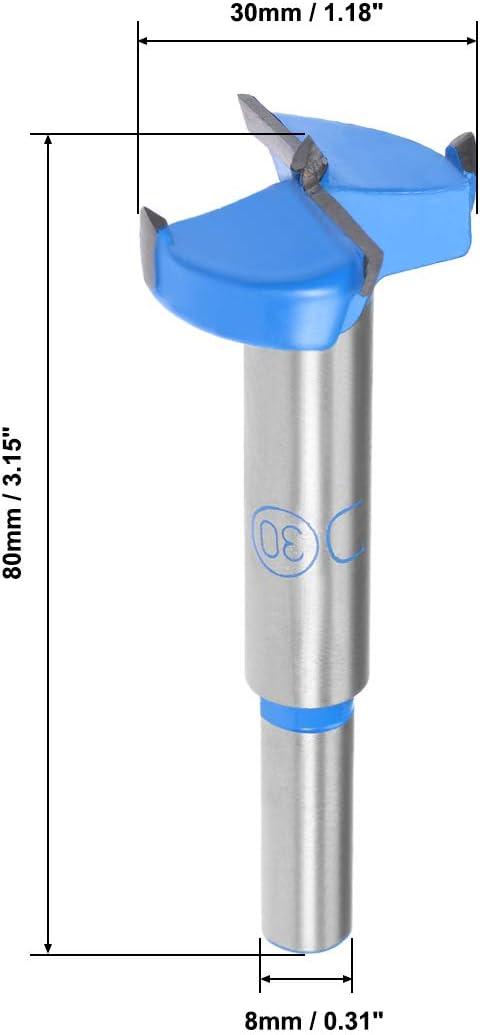 Broca de bisagra de carburo para aburrimiento y forstner Sourcingmap 10 mm de di/ámetro