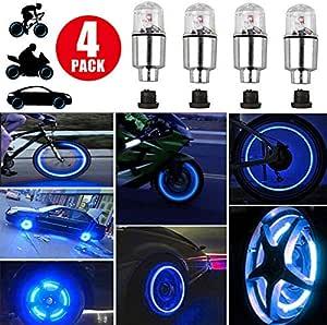 1PC Valve Stem LED Cap Bike Bicycle Wheel Light Car Motorcycle Tire Lamp Dust