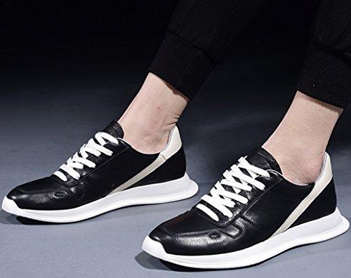 De Hombres Marea Salvajes Deportes Cuero Los Hombres Zapatos Zapatos De De Zapatos Los Los De Zapatos Black Zapatos Zapatos Blancos GOLDGOD Casuales De Casuales 6nTPzc