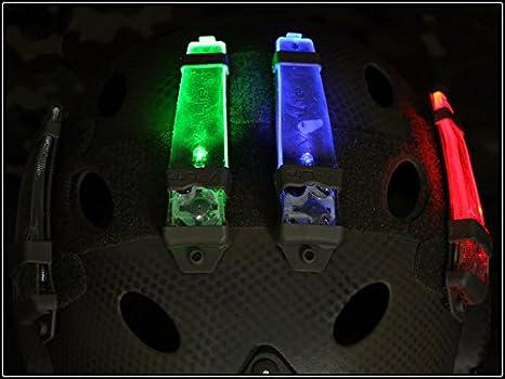 casco safty velcro V-LITE luz estroboscópica para cámping caza Luz de emergencia (Azul) Military Outdoor