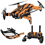 MightySkins Skin for DJI Max Coverage – Orange Camo | Protective, Durable, and Unique Vinyl Decal wrap Cover | Easy to Apply, Remove, and Change Styles | Made in The USA