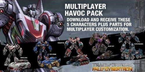 Review Transformers: Fall of Cybertron Multiplayer Havoc Pack [Online Game Code]