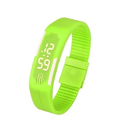 Xinantime Relojes Hombre,Xinan Acero Inoxidable Relojes Deportivos de Lujo LED Digital Pulsera (🎄Verde)