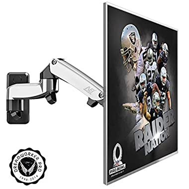 Articulating Arm TV LCD Monitor Wall Mount, Full Motion Swivel Tilt for 17  19  20  22  23  24  26  27  LED TV Computer Monitor up to 15 lbs 15  Extension VESA 100x100 75x75 Silver F150