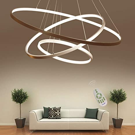 Lámpara de techo LED regulable de altura regulable, lámpara de mesa de comedor, cocina, comedor, salón, con mando a distancia, color de luz/brillo ...