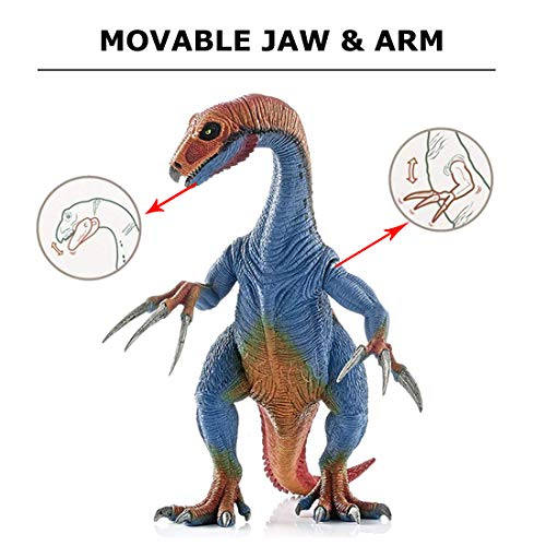 Kids Dinosaur Toys, BooTaa Dinosaur World, Large Realistic Looking Dino Action Figure Kit, Gift for 3 4 5 6 Years Old Boys Kids Toddlers, Birthday Party Game Favor,Therizinosaurus Utahraptor,Pack of 3 by BooTaa (Image #4)