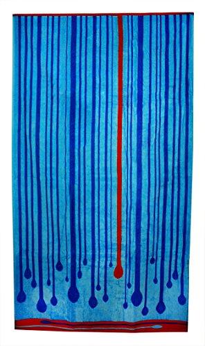 Northpoint Kerala Oversized Double Jacquard Plush Velour Beach Towel, 40 by 70-Inch, Macau
