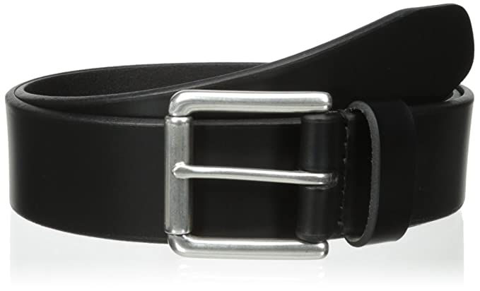 designer brand belts kapb  Dockers Men's 38mm Leather Bridle Belt, black,