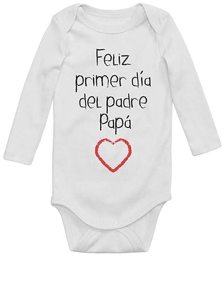 abe080e30ab Body de Manga Larga para bebé - Feliz Primer Día del Padre - Regalo para  Papá en su Día: Amazon.es: Ropa y accesorios