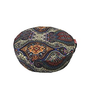 Aozora Zafu Meditation Cushion Yoga Inflatable Cotton Bolster Pillow Cushion Lightweight Non Slip Premium Designs