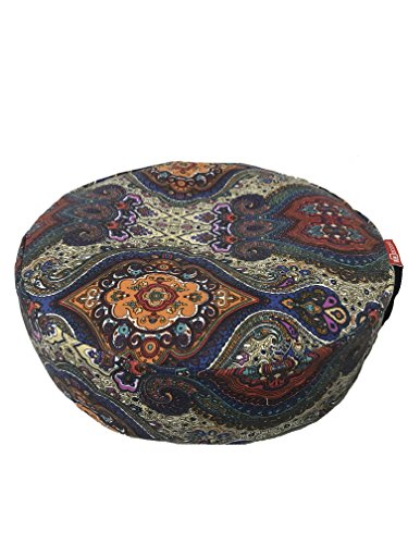 |New Arrival Sale| Aozora Zafu Meditation Cushion Yoga Inflatable Cotton Bolster Pillow Cushion Lightweight and Non slip with Premium Designs