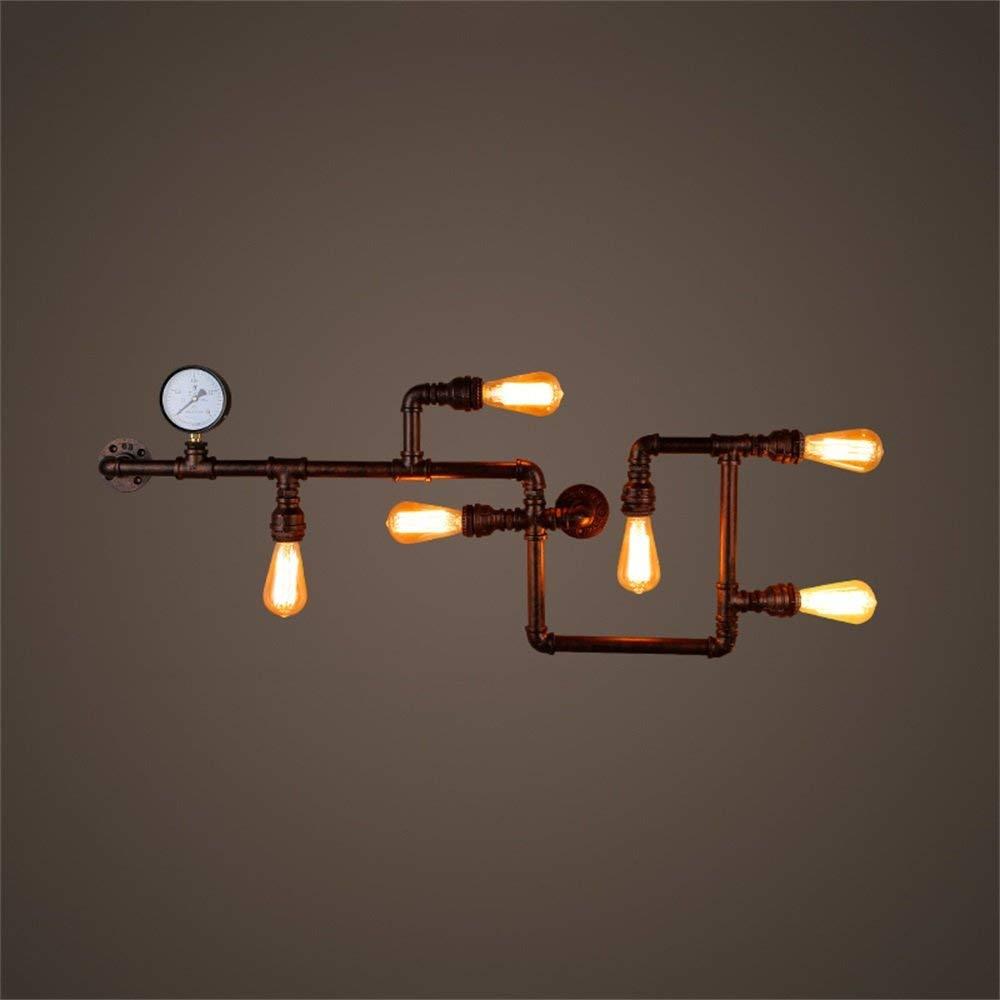 ロフトレトロ工業風クリエイティブブラケットライト人格アイアンアート水道管壁ランプ B07QLDFTB1