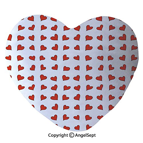 AngelSept Throw Pillow with Insert,Heart Shapes Pattern Lovers