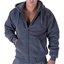 Gary Com Active Fleece Hoodies For Men Heavyweight Full Zip Up Long Sleeve Sherpa Lined Jackets