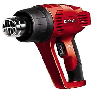 Einhell 4520179 Pistola de aire caliente - decapador TH-HA 2000/1 con rascador de pintura y 4 accesorios, 2 velocidades, 2000 W, 230-240 V, color rojo y negro