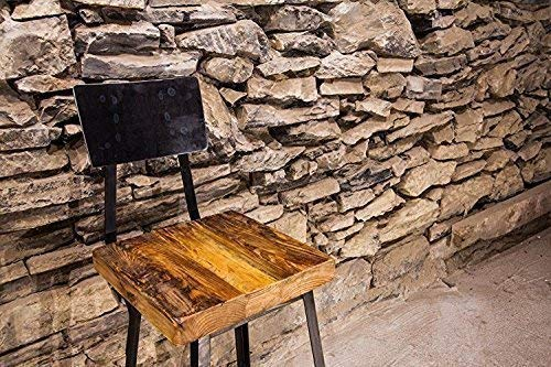- Brew Haus Industrial Style Bar Stools or Counter Stools with Scooped Backs and Reclaimed Wood Seats