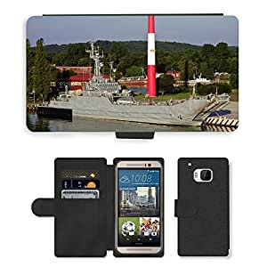 Hot Style Cell Phone Card Slot PU Leather Wallet Case // M00170278 Poland Ship Bay Harbor // HTC One M9