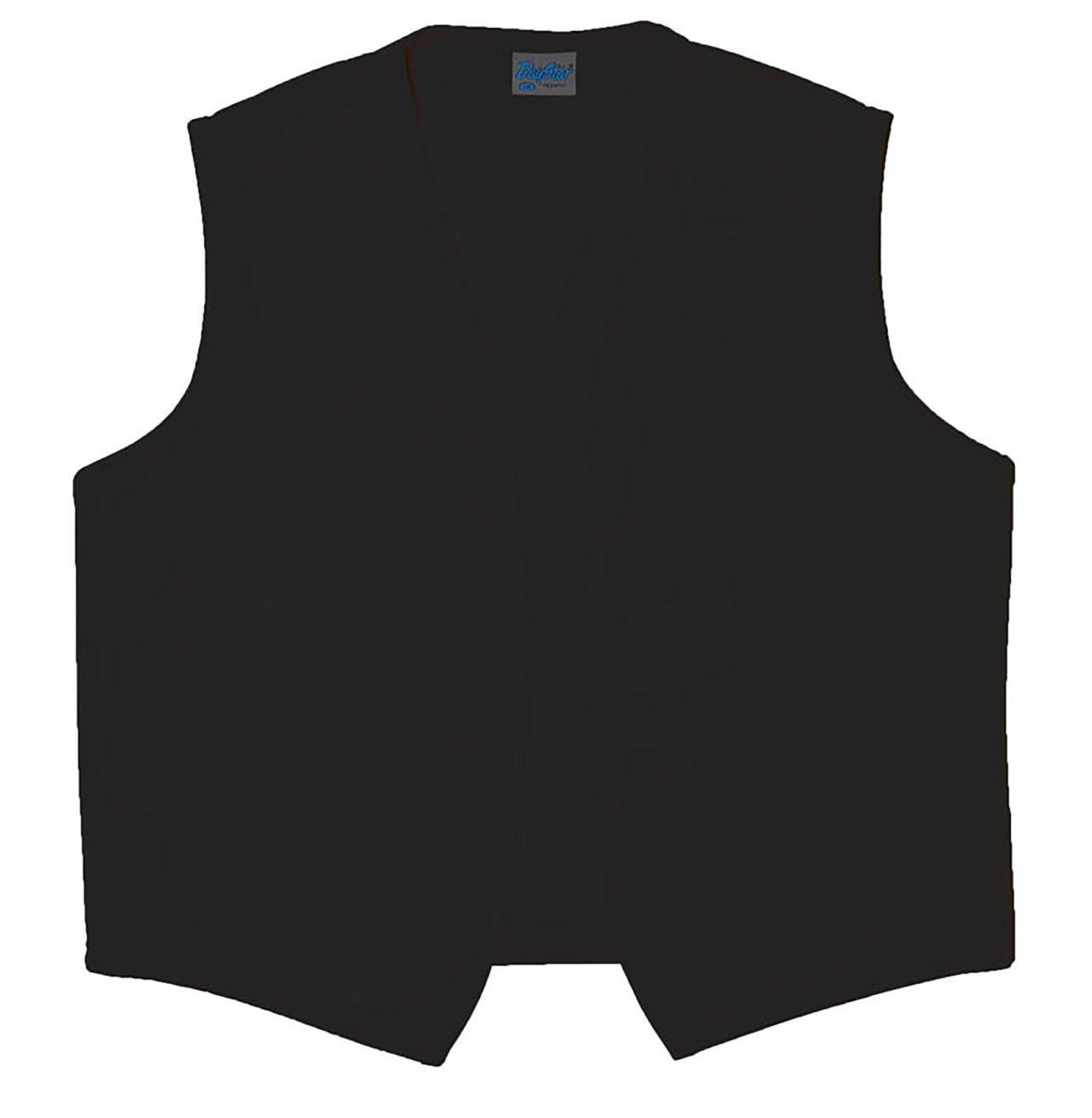 Style A740NP High Quality No Pocket Unisex Uniform Vest - Black, X-Large