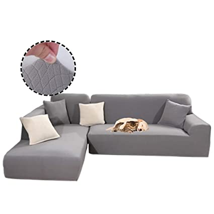Obokidly Anti-Leakage Jacquard Sectional Corner L-Shaped Sofa  Covers;Anti-wrinkle Chaise 3 Cushion Couch Leather Sofa Silpcovers Living  Room;Dustproof ...