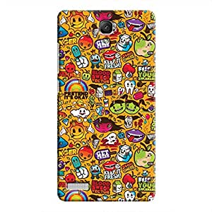 Cover It Up Stickers Hard Case For Xiaomi Redmi Note 4G