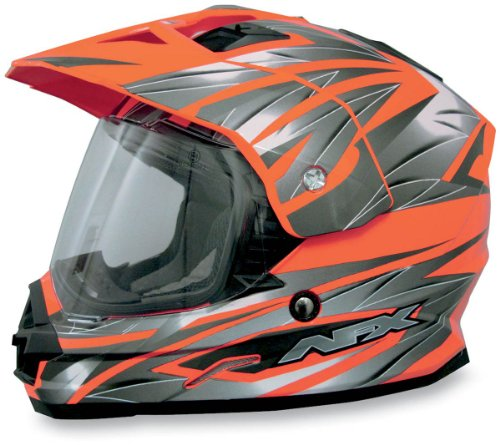 AFX FX-39DS Dual Sport Strike Full-face Street Helmet Safety Orange XS