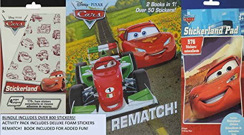 Disney Cars Sticker Activity Pack includes over 800 stickers