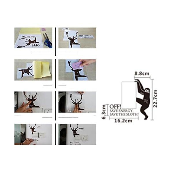 George Jimmy Cute Creative Switch Sticker Switch Tips Wall Nursery Decor-Sloth -