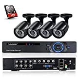 Floureon 8CH P2P Motion Detection Push Alerts AHD 1080N DVR + 4 X 720P 1.0MP 1500TVL Outdoor Indoor Waterproof Bullet Camera + 1T Hard Disk Security Kit Home Surveillance Security Kit Review