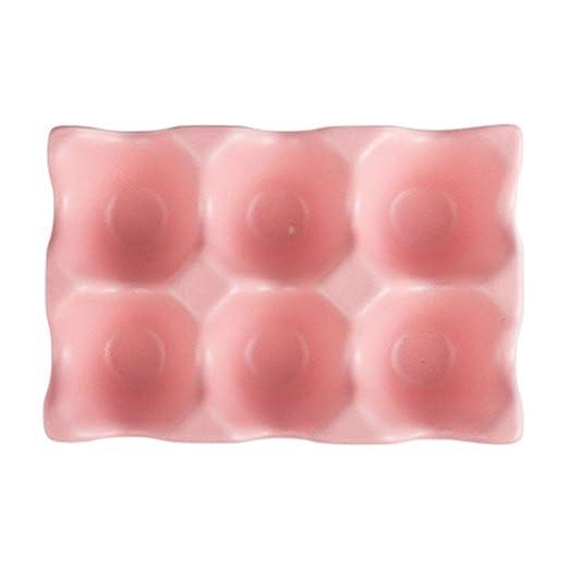 Hemoton 6 Rejillas bandejas de Huevos Soporte de Huevo de cerámica ...