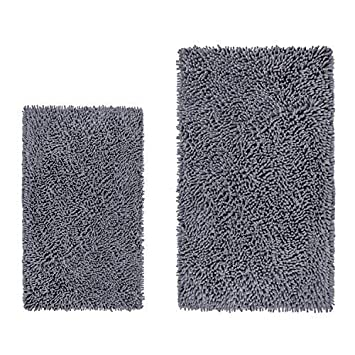 Amazon Com Luxurux Bathroom Rugs Luxury Chenille 2 Piece Mats Soft