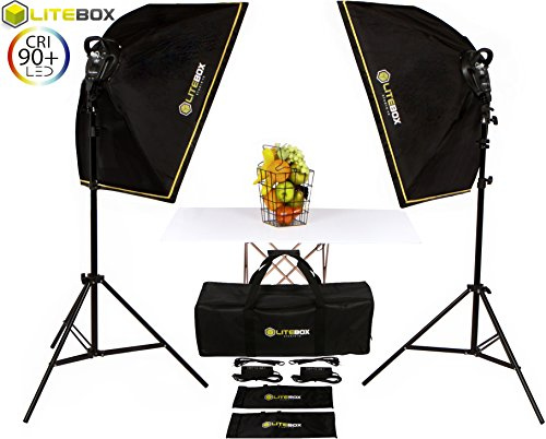 litebox-high-output-led-lighting-kit-dual-5500k-adjustable-continuous-lighting-set-for-product-photo
