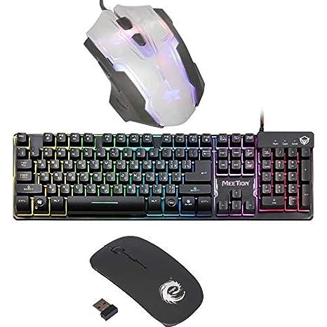 d3b5cd31ef3 MEETION K9300 USB Rainbow Backlit Gaming Keyboard Wired: Amazon.in:  Electronics