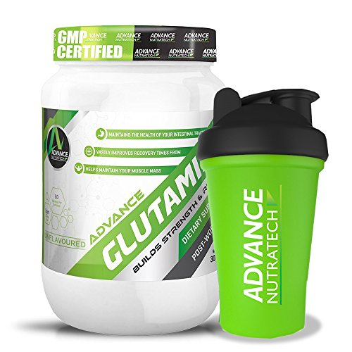 Combo Glutamine supplement powder 300gm (60 Servings) unflavoured With Shaker by ADVANCE NUTRATECH