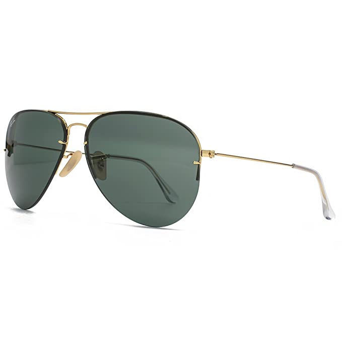 3ed9fe6ced Ray-Ban Tech Flip Out Aviator Sunglasses in Arista Gold Green RB3460 001 71  59  Amazon.ca  Clothing   Accessories