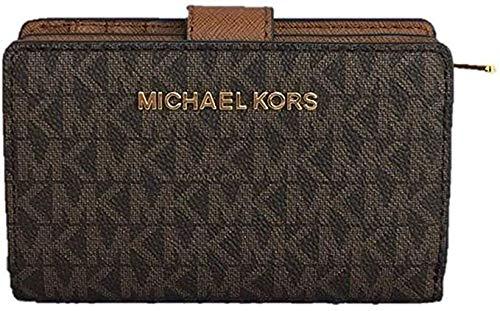 Michael Kors Jet Set Travel Medium Bifold Zip coin Wallet - Brown