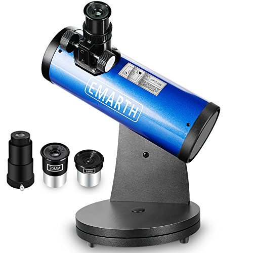 CSSEA 76mm Tabletop Reflector Telescope for Kids Adults and Astronomers Beginners
