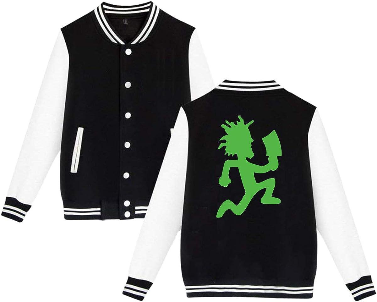 LIALUER Hatchetman ICP Teenager Baseball Uniform Jacket Coat Sweater