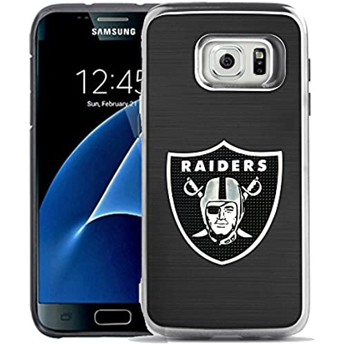 SAMSUNG GALAXY S7 Case, Phonelicious - Licensed NFL [Slim][Brushed Metal Texture][Shock Proof] [Heavy Duty] Dual Sales
