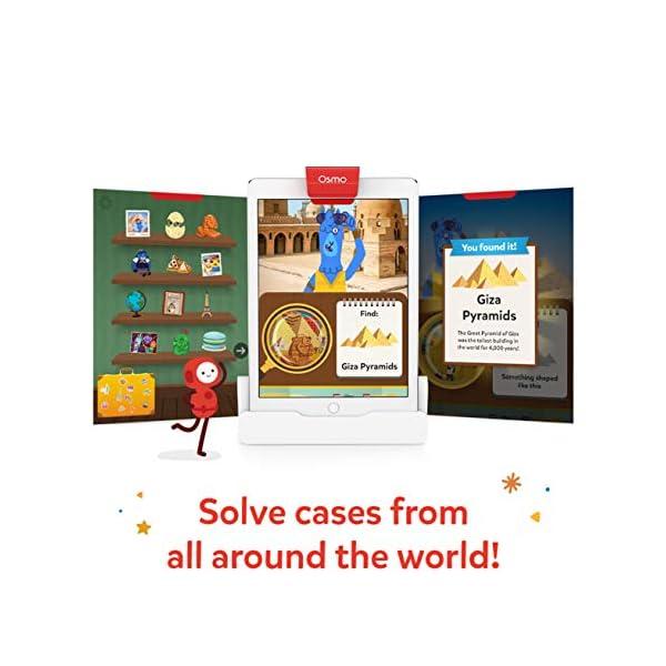 Osmo Search & Find Mystery Game-Ages 5-12-Explore The World-for And Detective Agency: Un Gioco Ricerca misterioso-età 5-12-Esplora Il Mondo-per iPad e Tablet Fire Base Richiesta, Colore 2, 902-00011 3 spesavip