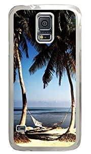 Beach Paradise Custom Samsung Galaxy S5 Case Back Cover, Snap-on Shell Case Polycarbonate PC Plastic Hard Case Transparent
