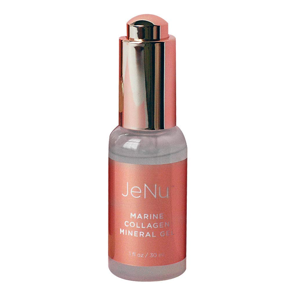 JeNu by Trophy Skin Marine Mineral Collagen Gel for Anti-Aging Reducing Wrinkles and Boosting Hydration, 1 Ounce
