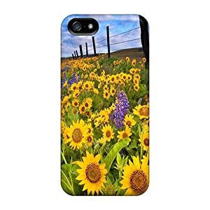 High-end Cases Covers Protector For Iphone 5/5s(meadow Of Sunflowers)